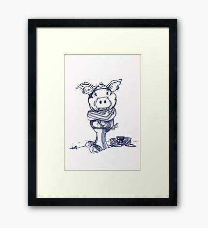 Mofo Pig Framed Print