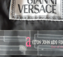 ELTON JOHNS VERSACE LEATHER JACKET Sticker