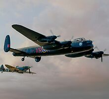 Two Icons - Lancaster and Spitfire by © Steve H Clark Photography