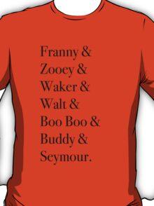 JD Salinger's Glass Family T-Shirt