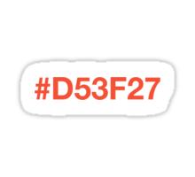 #D53F27 – Orange Sticker