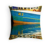 Sunny Harbour Throw Pillow