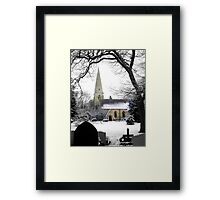Winter Church Framed Print