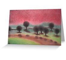 Trio Trees Greeting Card