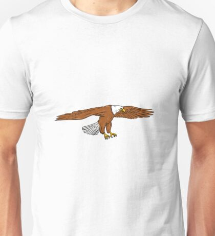 Bald Eagle Swooping Drawing Unisex T-Shirt