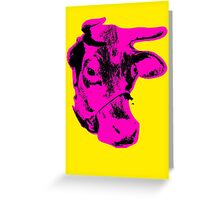 Andy Warhol - Pink Cow Greeting Card