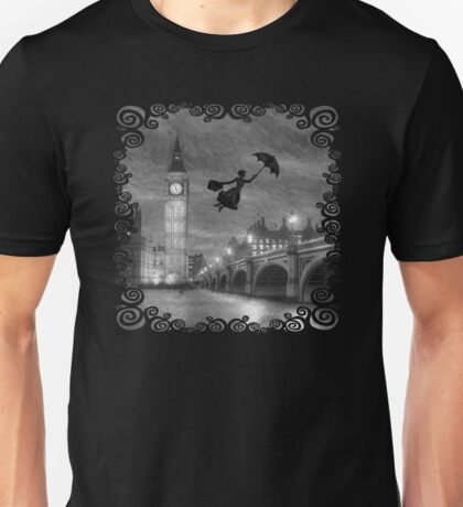 Magical Nanny Over London  Unisex T-Shirt