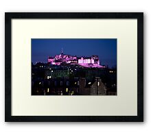 Edinburgh Castle Pretty in Pink Framed Print