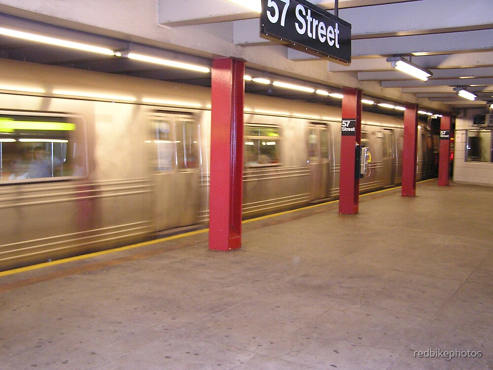 speeding subway by redbikephotos