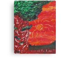 Spread the Love - By Toph Canvas Print