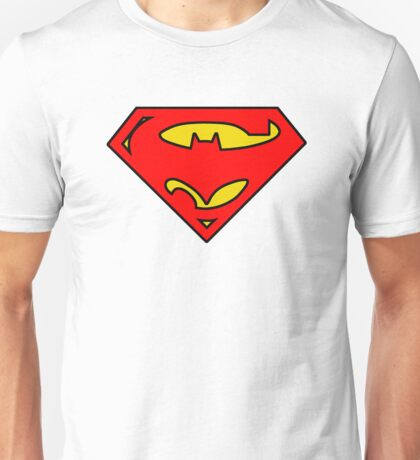 SuperBat - LOGO / SYMBOL Design (BLACK, YELLOW, AND RED) Unisex T-Shirt