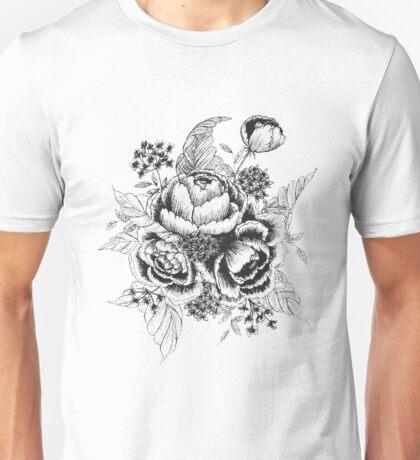 Vintage Peonies Unisex T-Shirt