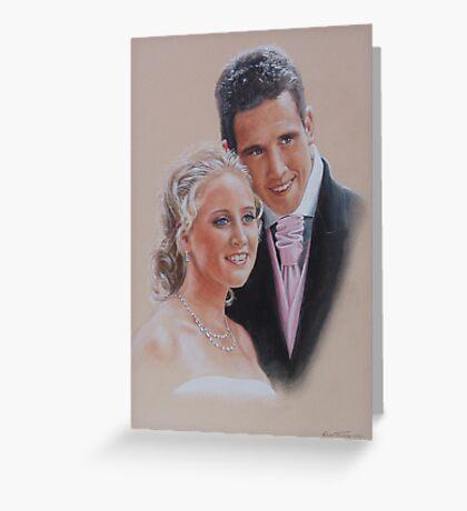 Wedding belle and groom. Greeting Card
