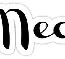 Meow, cat tee Sticker