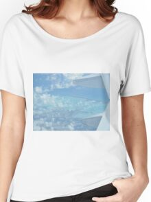 Ocean view from the sky and plane Women's Relaxed Fit T-Shirt