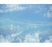 Ocean view from the sky and plane Photographic Print