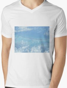 Ocean view from the sky and plane Mens V-Neck T-Shirt