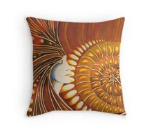 Ammonite Fragment Throw Pillow