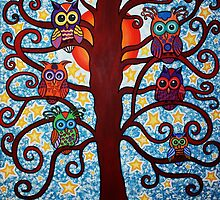 The Family Tree - Acrylic on Canvas by morningcoffee