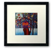 The Visitor - Acrylic on Canvas Framed Print