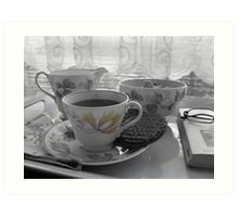Tea break Art Print