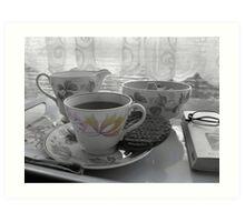 Tea break Art Print