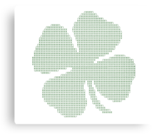Ascii Art Shamrock Four Leaf Clover Canvas Print
