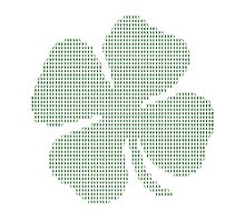 Ascii Art Shamrock Four Leaf Clover Photographic Print