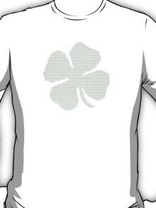 Ascii Art Shamrock Four Leaf Clover T-Shirt