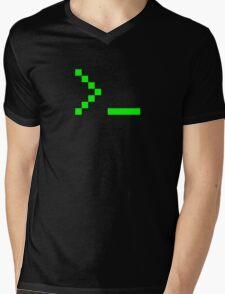 Old School Computer Text Input Prompt Mens V-Neck T-Shirt