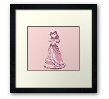 Minimalist Princess Peach from Super Smash Bros. Brawl Framed Print