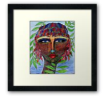 Lizzy face Framed Print