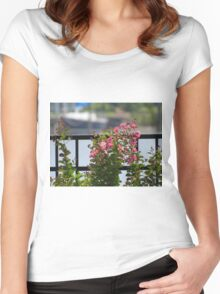 Pink Crepe Myrtle   (1407070445VA) Women's Fitted Scoop T-Shirt