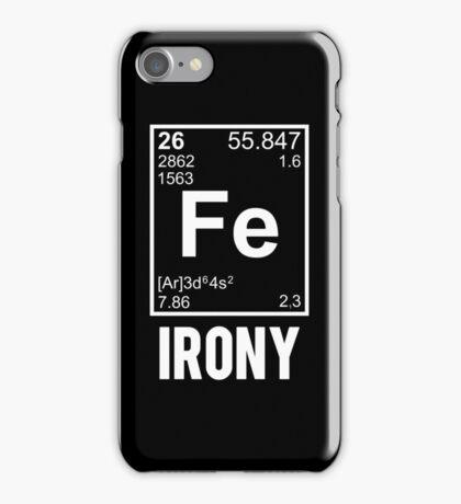 Ironic Chemical Element FE Irony iPhone Case/Skin