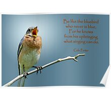 Be like the bluebird . . . Poster