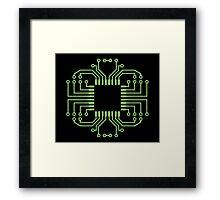 Electric Circuit Board Processor Framed Print