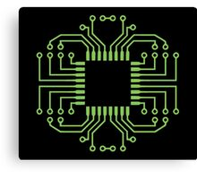 Electric Circuit Board Processor Canvas Print