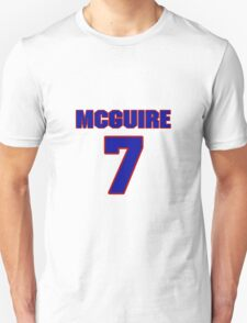Basketball player Alfred McGuire jersey 7 T-Shirt