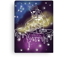 DJ in Space Canvas Print