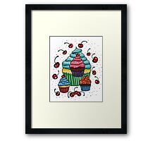 Sprinkles of Color - Acrylics on Mixed Media Paper Framed Print