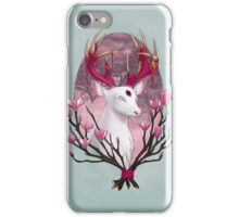 White Stag with Magnolias iPhone Case/Skin