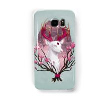 White Stag with Magnolias Samsung Galaxy Case/Skin