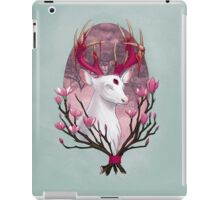 White Stag with Magnolias iPad Case/Skin