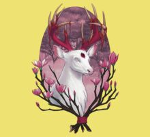White Stag with Magnolias Kids Clothes