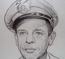 Don Knotts, Barney Fife drawing by RobCrandall
