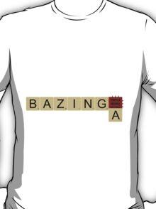 Bazinga Big Bang Theory Scrabble Letters T-Shirt