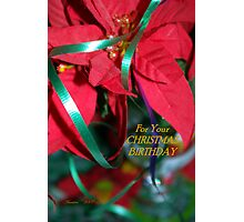 Christmas Birthday  Photographic Print