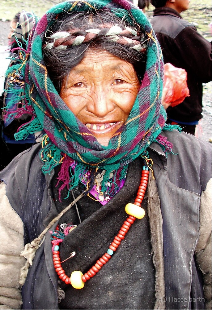 Tibetan  Elder by HD Hasselbarth