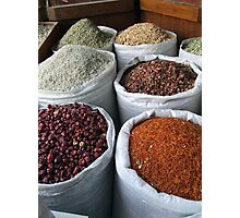 Spice souk Dubai Photographic Print