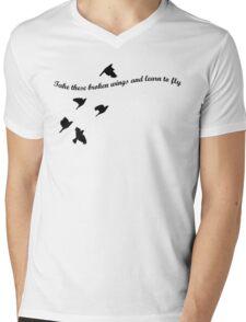 Blackbird Mens V-Neck T-Shirt
